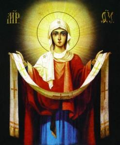 Virgem e Icone sacerdote